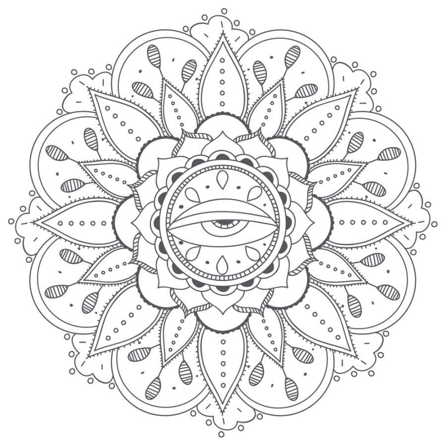 Mandalas Para Colorear Más Dibujos De Mandalas Pdf